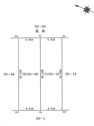 A区画:(1)53-15  B区画:(2)53-49